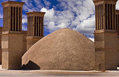 water reservoir and zurkhaneh in Yazd