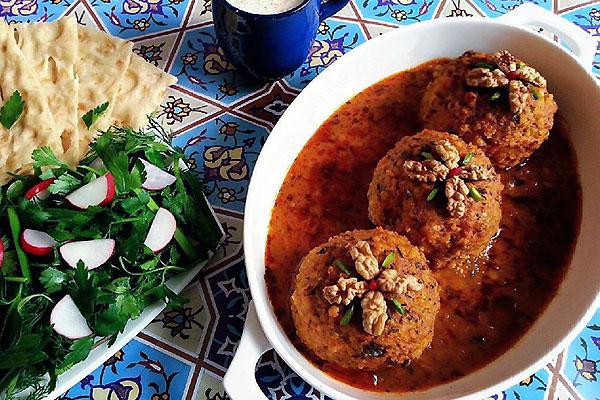 غذای سنتی یزد کوفته یزدی